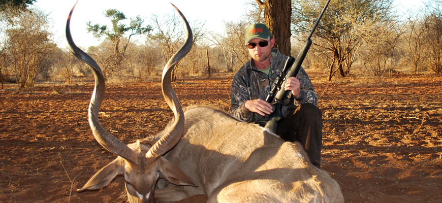 Steven Kendus with South African Kudu Bull