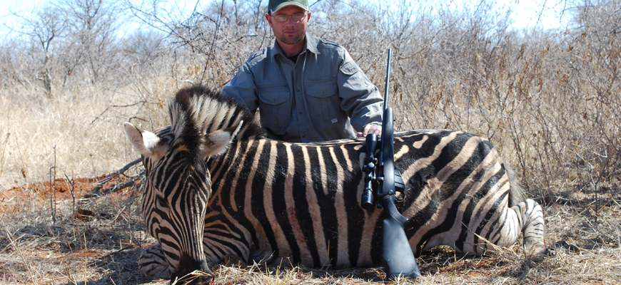 Author Steven M. Kendus with South African Zebra Stallion
