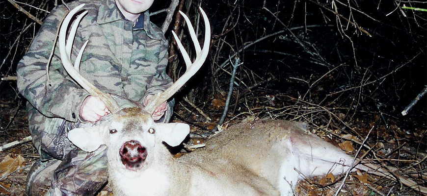 Author Steven M. Kendus with Big Delaware Six-Pointer
